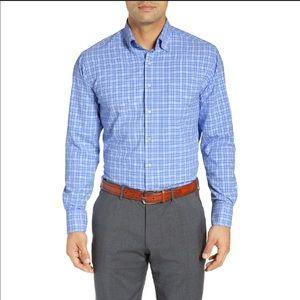 Peter Millar NWT Natural Touch Sport Shirt Blue